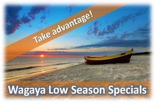 Wagaya Out of season specials, Barra Beach, Inhambane